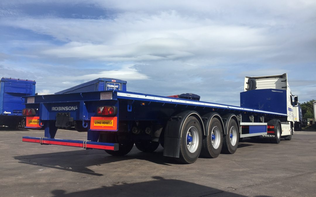 5x Robinson Flat Trailers for the Construction Industry